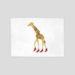 Heeled Giraffe 5'x7'Area Rug