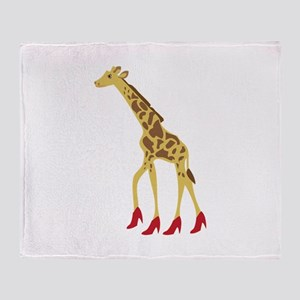 Heeled Giraffe Throw Blanket