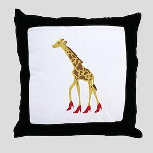 Heeled Giraffe Throw Pillow