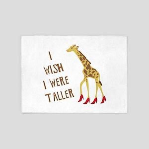 Wish I Was Taller 5'x7'Area Rug