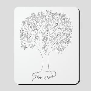 Give Thanks Tree Mousepad