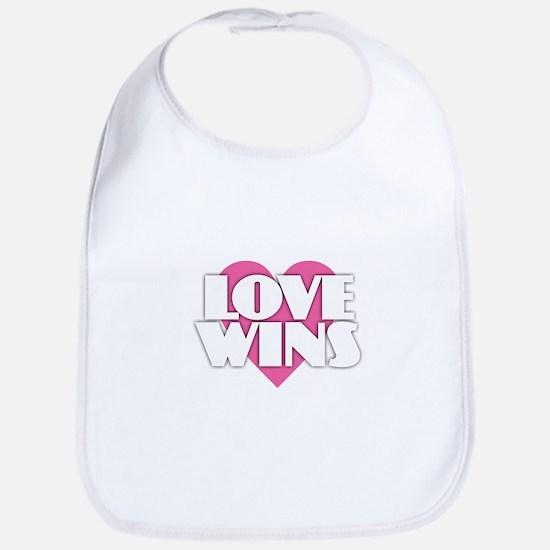 Love Wins - Heart Baby Bib