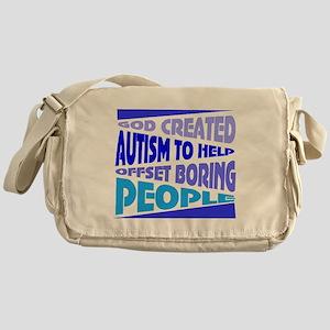 Funny autism Messenger Bag