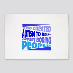 Funny autism 5'x7'Area Rug