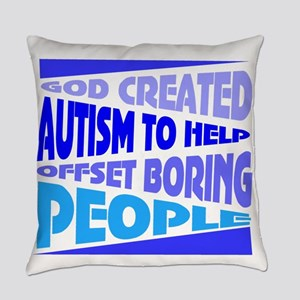 Funny autism Everyday Pillow