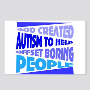 Funny autism Postcards (Package of 8)