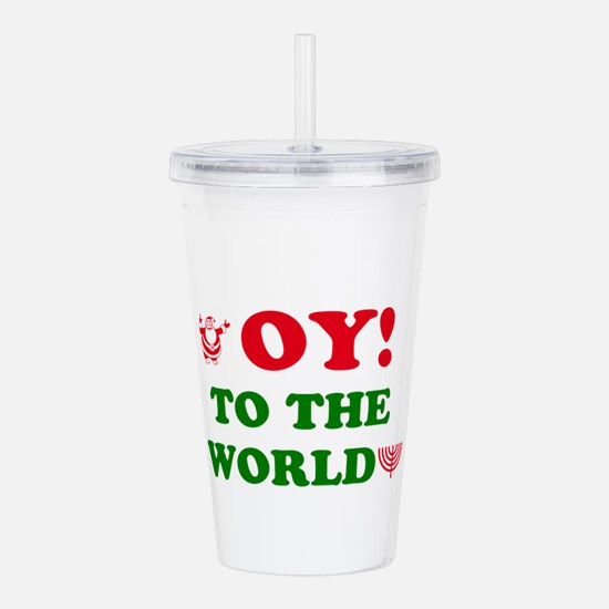 Oy To the World Acrylic Double-wall Tumbler
