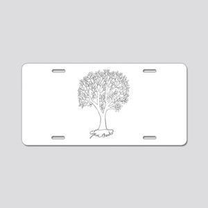 Give Thanks Tree Aluminum License Plate