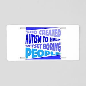 Funny autism Aluminum License Plate
