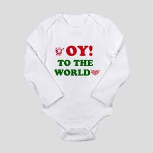 Oy To the World Long Sleeve Infant Bodysuit