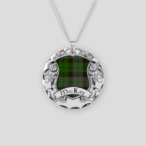 MacKay Tartan Shield Necklace Circle Charm
