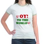 Oy To the World Jr. Ringer T-Shirt