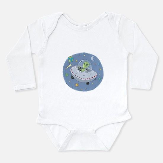 Little Green Alien Infant Creeper Body Suit
