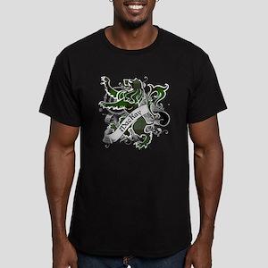 MacKay Tartan Lion Men's Fitted T-Shirt (dark)