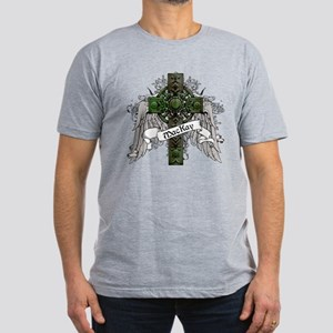 MacKay Tartan Cross Men's Fitted T-Shirt (dark)