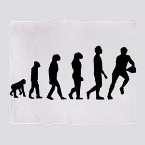 Rugby Evolution Throw Blanket