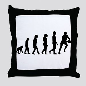 Rugby Evolution Throw Pillow