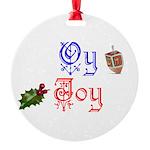 Oy Joy Round Ornament