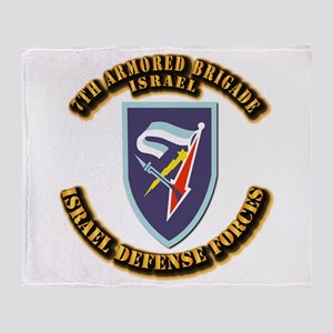 7th Armored Brigade Throw Blanket