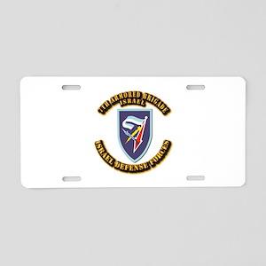 7th Armored Brigade Aluminum License Plate