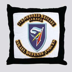 7th Armored Brigade Throw Pillow