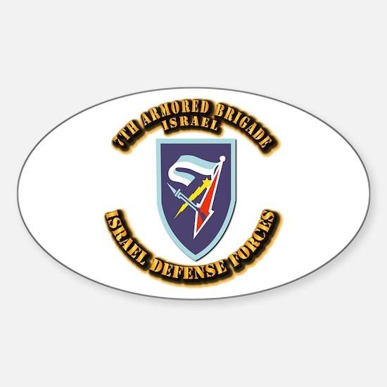 7th Armored Brigade Sticker (Oval)