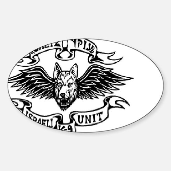 Unique Israel army Sticker (Oval)