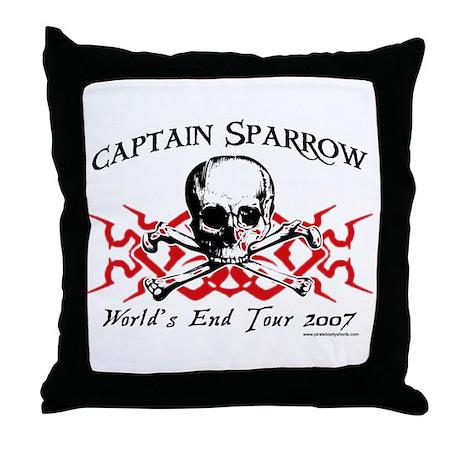 Captain Sparrow Tour Throw Pillow