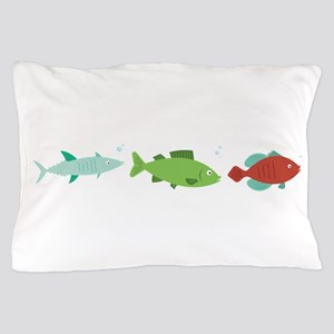 Fish Border Pillow Case