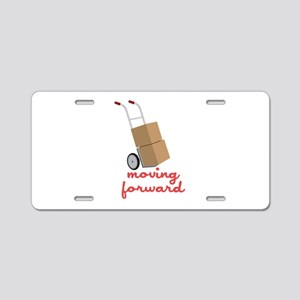 Moving Forward Aluminum License Plate