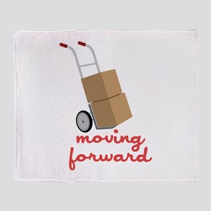 Moving Forward Throw Blanket