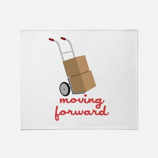 Moving Forward Throw Blanket