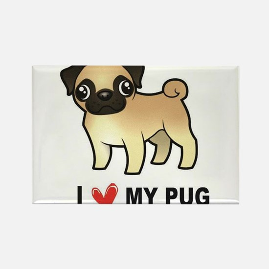 I Love My Pug Magnets
