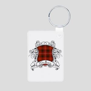MacIver Tartan Shield Aluminum Photo Keychain