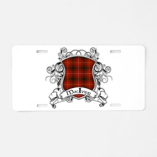 MacIver Tartan Shield Aluminum License Plate