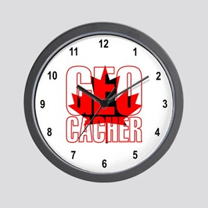 Maple Leaf Geocacher Wall Clock
