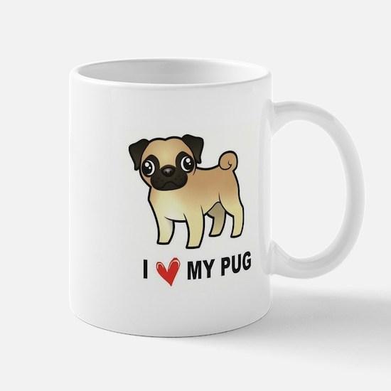 I Love My Pug Mugs