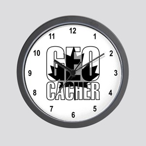 Gray Leaf Geocacher Wall Clock