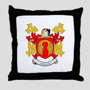 SEYMOUR Coat of Arms Throw Pillow