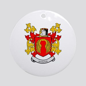 SEYMOUR Coat of Arms Ornament (Round)