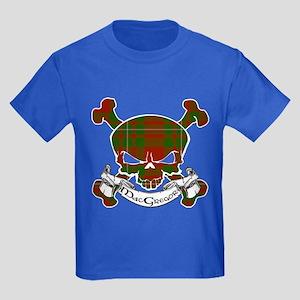 MacGregor Tartan Skull Kids Dark T-Shirt