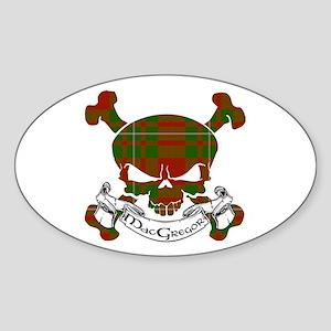 MacGregor Tartan Skull Sticker (Oval)