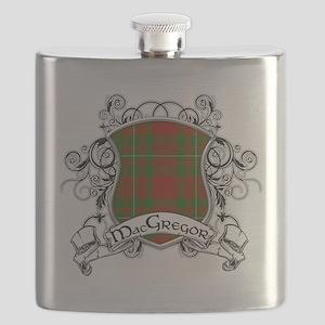 MacGregor Tartan Shield Flask