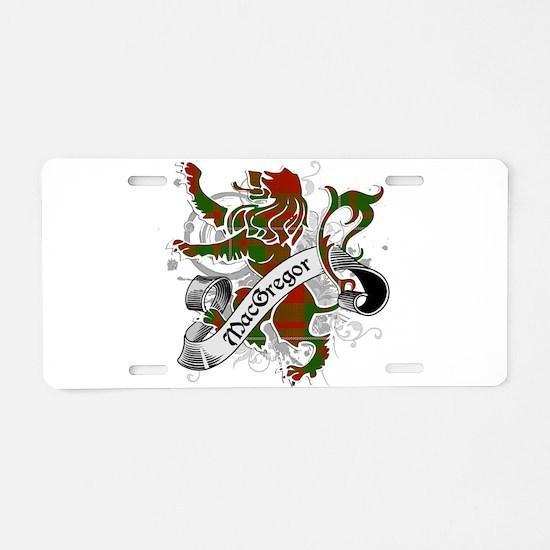MacGregor Tartan Lion Aluminum License Plate