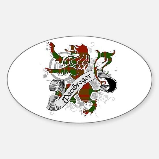 MacGregor Tartan Lion Sticker (Oval)