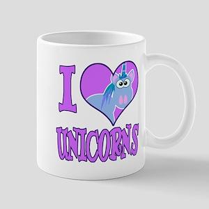 I Love (Heart) Unicorns Mug