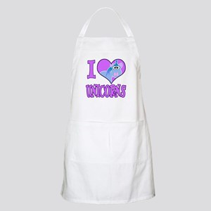 I Love (Heart) Unicorns BBQ Apron
