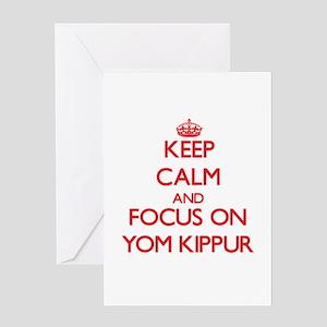 I love yom kippur greeting cards cafepress keep calm and focus on yom kippur greeting cards m4hsunfo