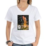 Fairies & Bolognese Women's V-Neck T-Shirt