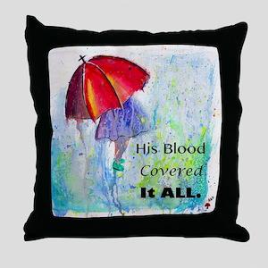First Red Umbrella Throw Pillow